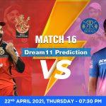 RCB vs RR Dream11 Prediction Match 16 Team by Expert IPL 22 April   Kheltalk Fantasy cricket