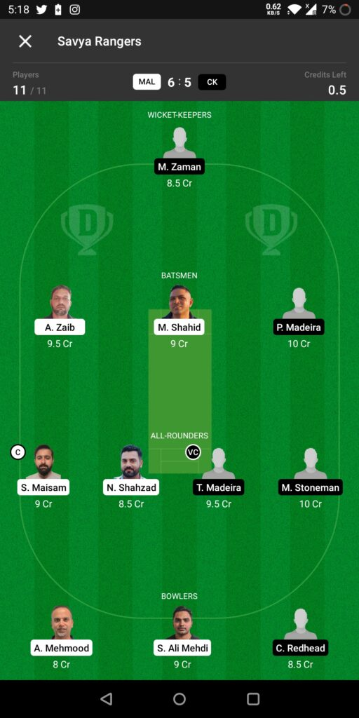 Grand League Team For CK vs MD
